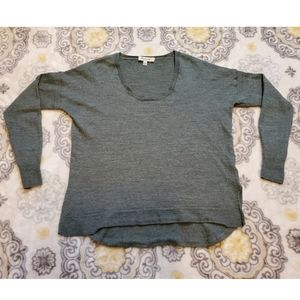 Madewell Scoop Neck Green Wool Blend Sweater